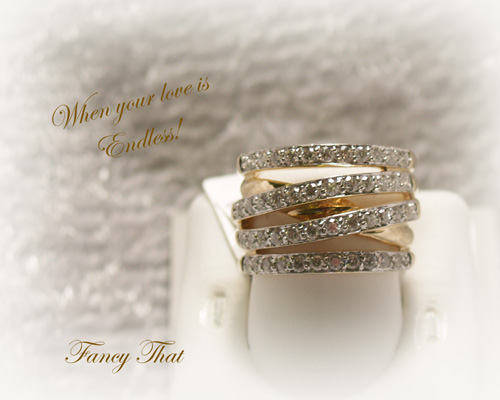 <b>Description: </b>14ky Ladies Crossover Ring - 1.00 CT T.W.<br /><b>List Price:$7980</b><br />Our Price:$3150