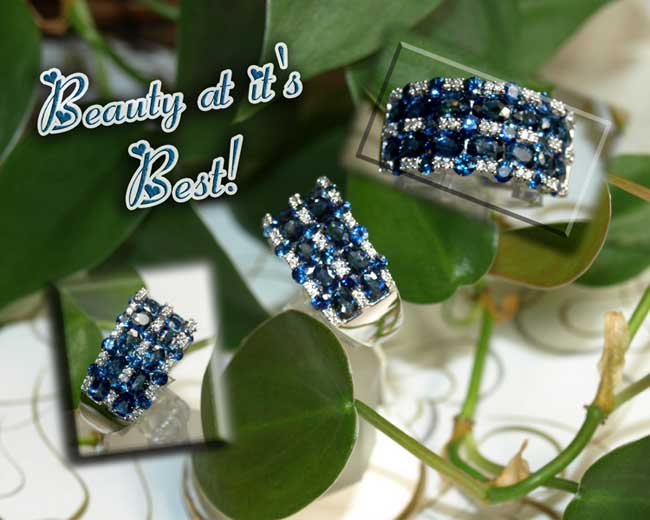 <b>Description: </b>14KW Sapphire and Diamond Ring.(Call or e mail for price and details.)